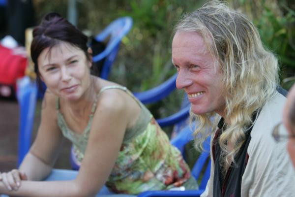 Крис Кельми со своей женой