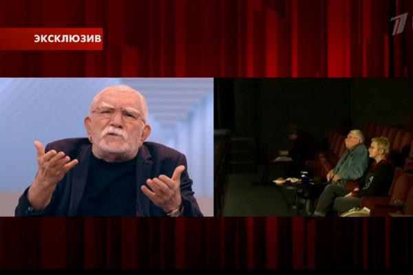 """Актер на съемках программы """"Прямой эфир"""""""