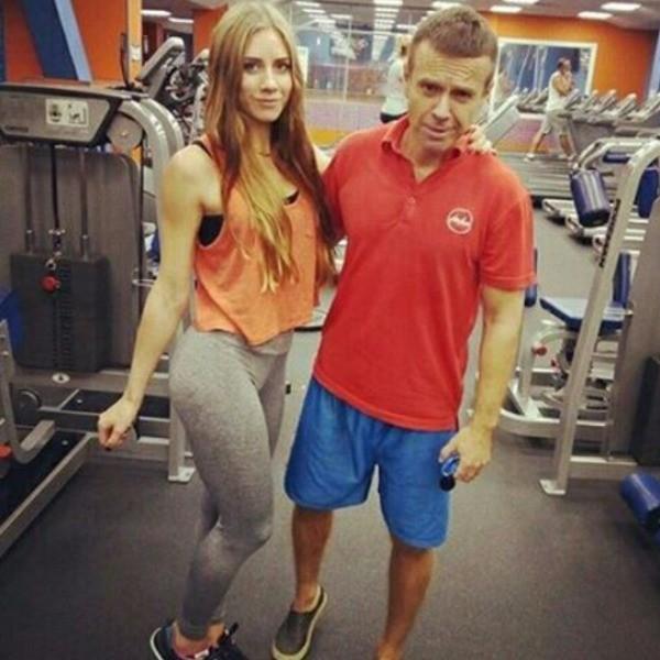 Андрей Губин в спортзале