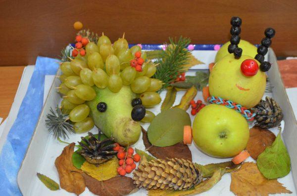 Зверюшки из фруктов