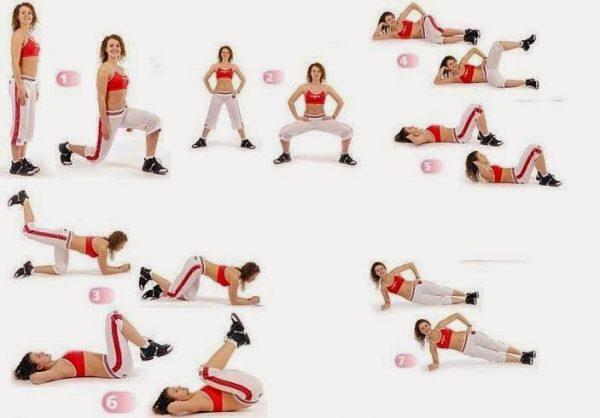 Упражнения для живота и боков