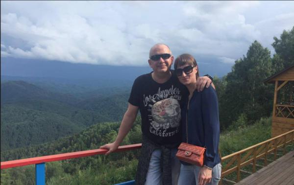 Дмитрий и Ксения на отдыхе