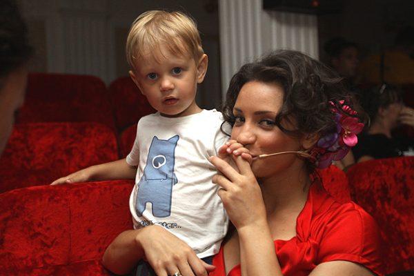 Татьяна Денисова со своим сыном