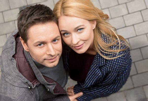 С женой Анастасией Паниной