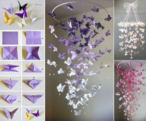 Необычные гирлянды в виде бабочек