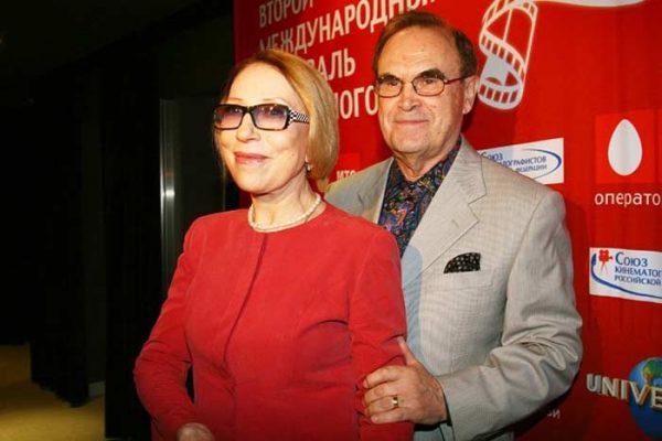 Инна Чурикова и ее супруг Глеб Панфилов