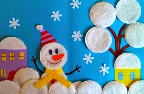 Детские поделки для детского сада на тему новый год