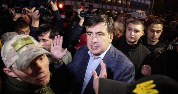 Михаил Саакашвили во время интервью