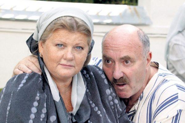 С мужем Леонидом Эйлиным