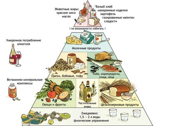Сидя на раздельном питании нужно правильно совмещать продукты