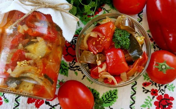 Салат из баклажанов жаренных на зиму