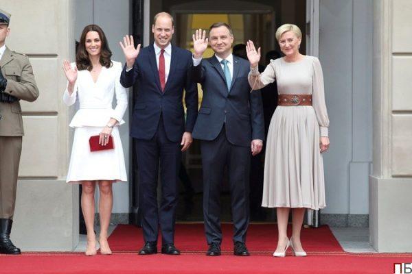 В 2017 году королевская семья посетила Польшу