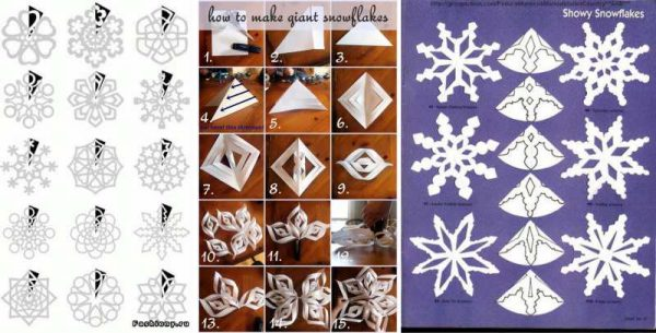 Схемы снежинок своими руками