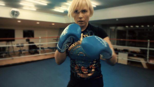 Наталья Рогозина на тренировках