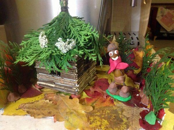 Осенняя композиция в школу и детский сад