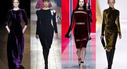 Бархатные платья 2017-2018
