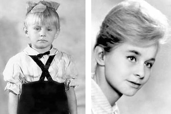 Ангелина Вовк в детстве и в юности