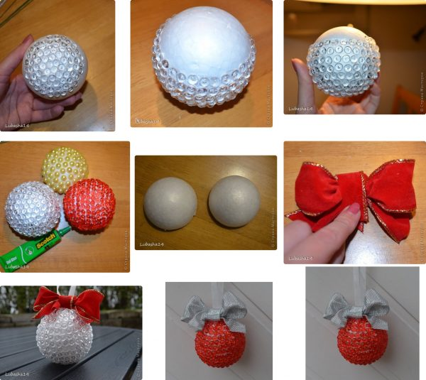 Украшение шариков