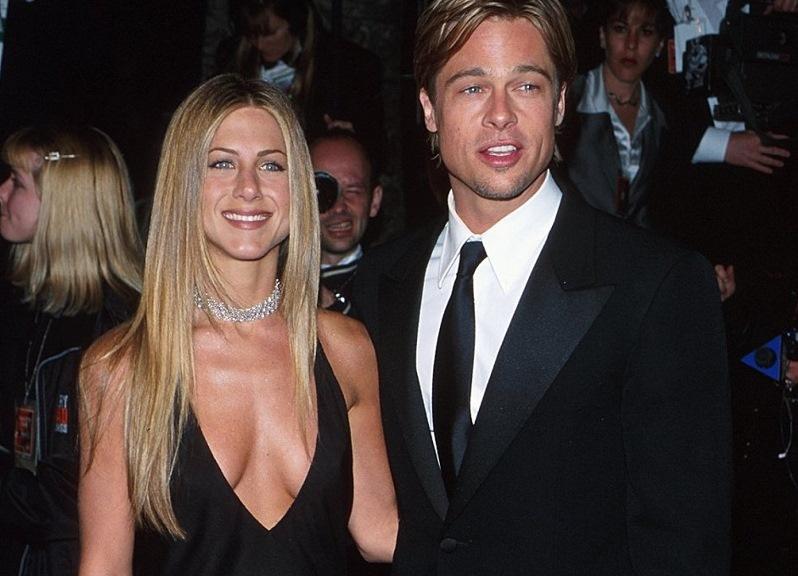 С бывшей женой Дженнифер Энистон