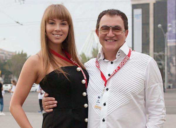 С третьей женой Полиной Наградовой