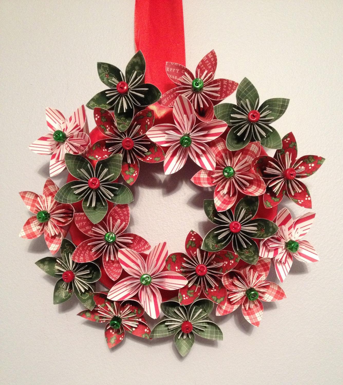 Рождественский венок из цветов