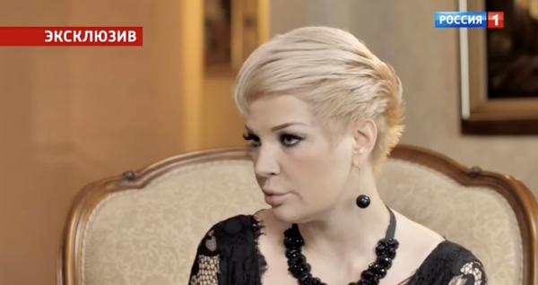 Мария Максакова во время интервью Андрею Малахову