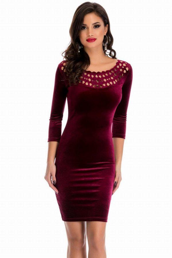 Платье с перфорацией