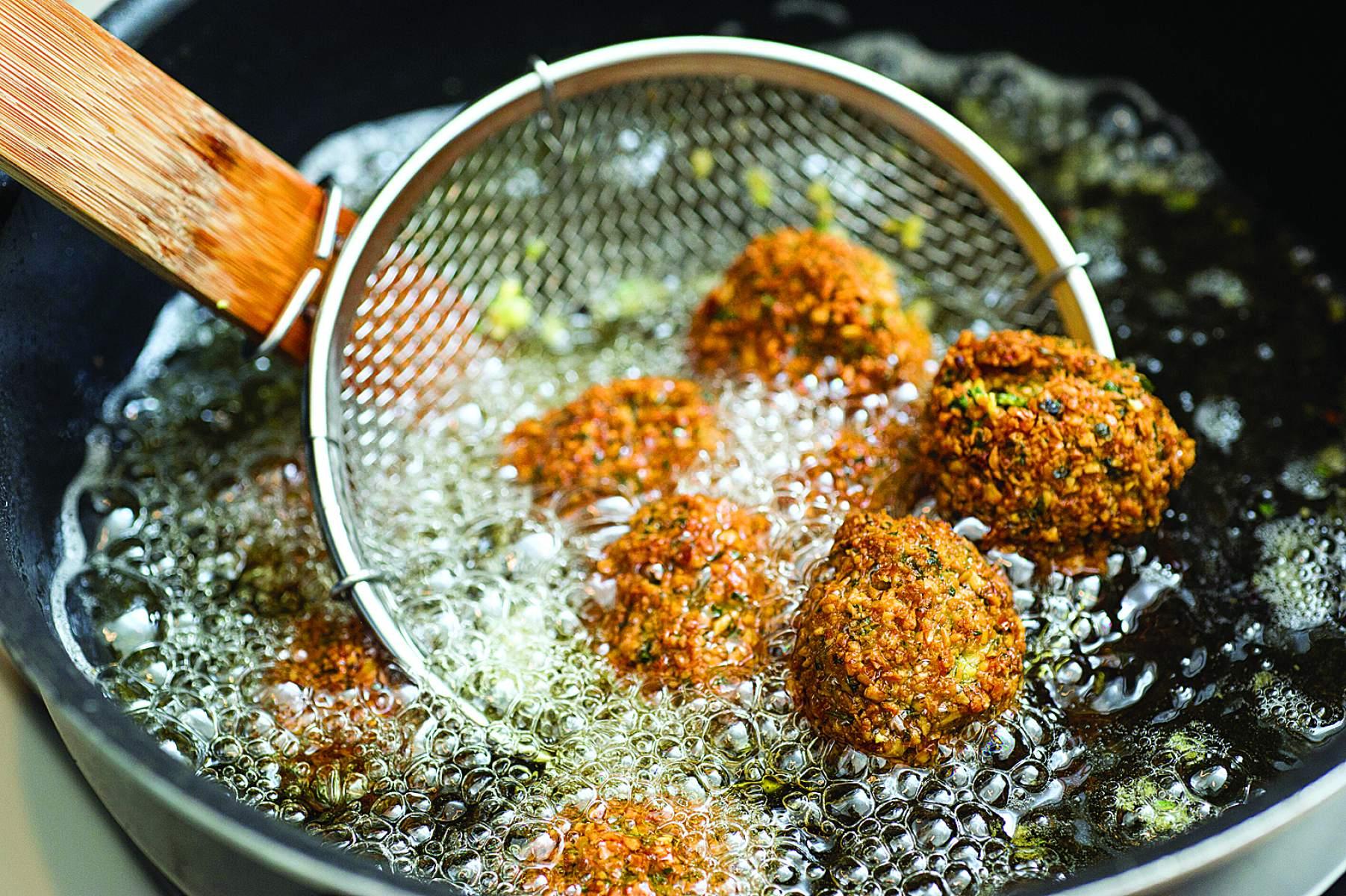 Обжариваем овощи темпура