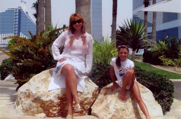 С младшей дочерью на отдыхе
