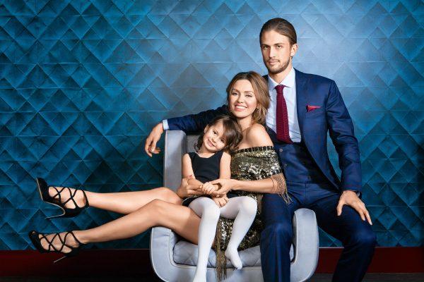 Виктория Боня с бывшим мужем Алексом и дочькой