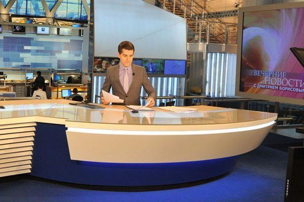 Борисов был ведущим программы новостей