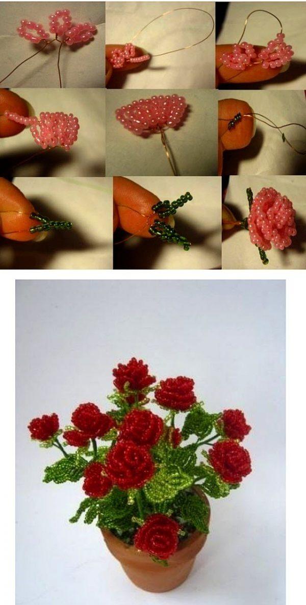 Мастер- класс плетения розы