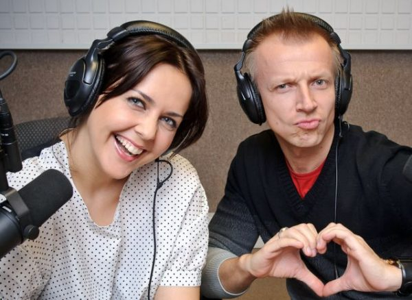 С соведущим Антоном Комоловым