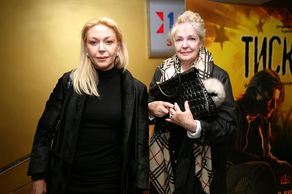С дочерью Аленой Бондарчук