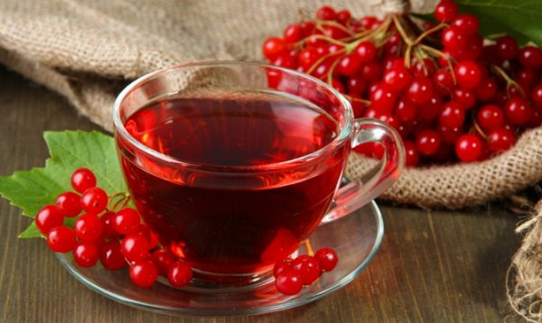 Вкусный чай из ягод калины