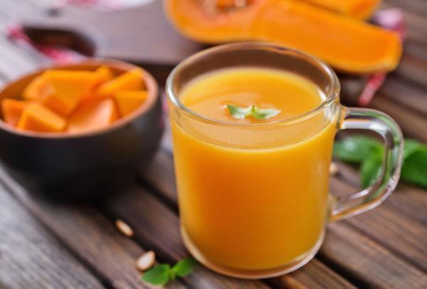 Из тыквы можно приготовить вкусный сок