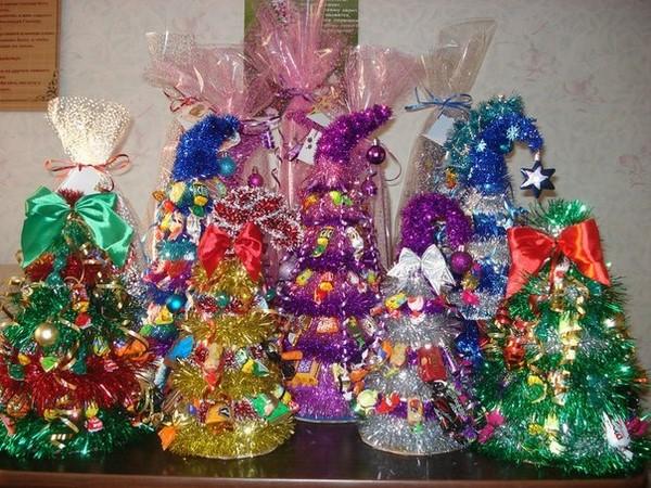 Нарядные елочки своими руками в подарок