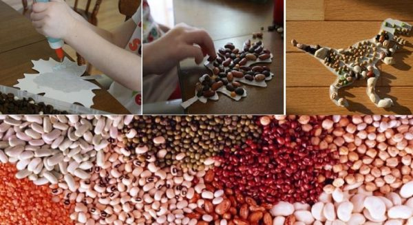 Осеннее панно из подручных материалов