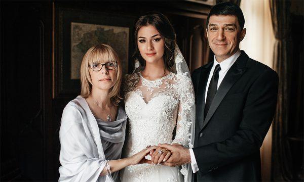 Кирилл Шубский и Вера Глаголева на свадьбе у дочери Анастасии
