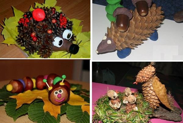 Поделки из природного материала своими руками детский сад