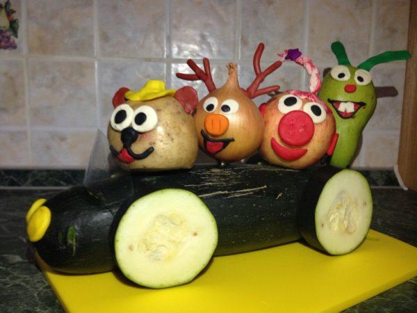 Смешарики из овощей