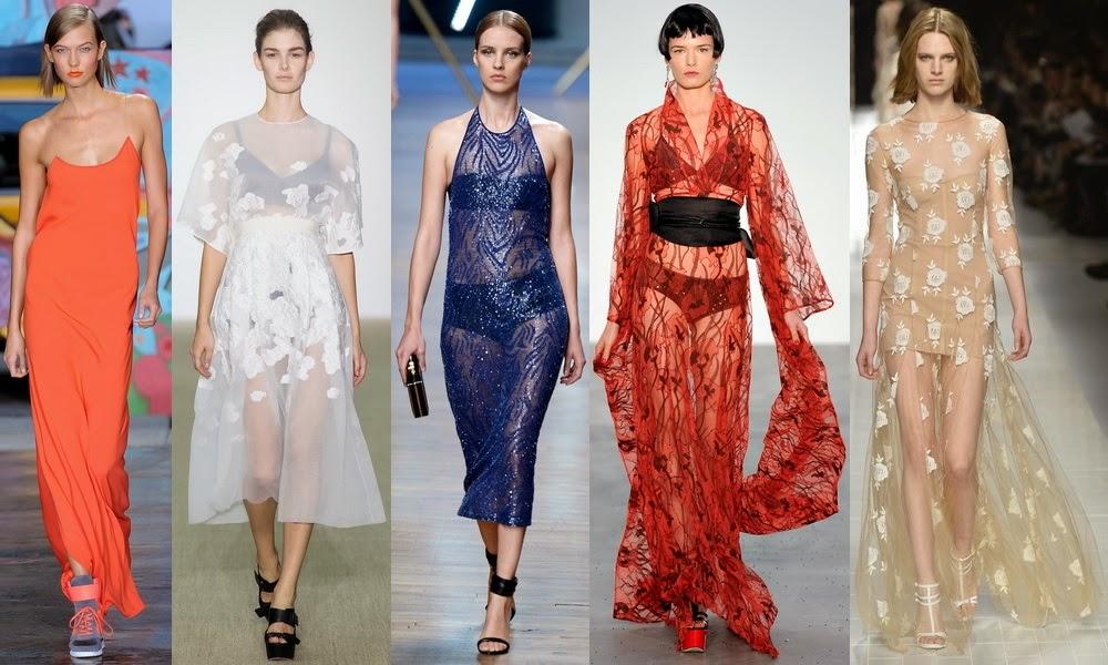 Модные полупрозрачные платья для новогоднего вечера