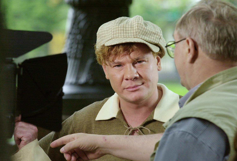 Влад Галкин на съемках фильма «Мастер и Маргарита»