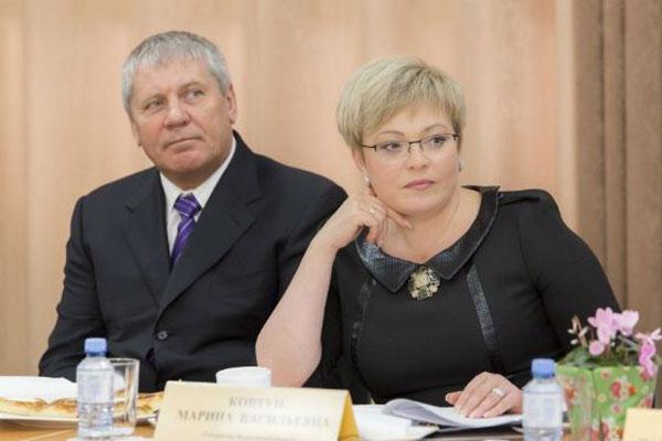 Марина Ковтун с мужем Василием