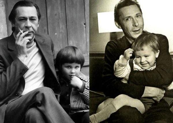 Михаил Ефремов в детстве со своим отцом Олегом Ефремовым