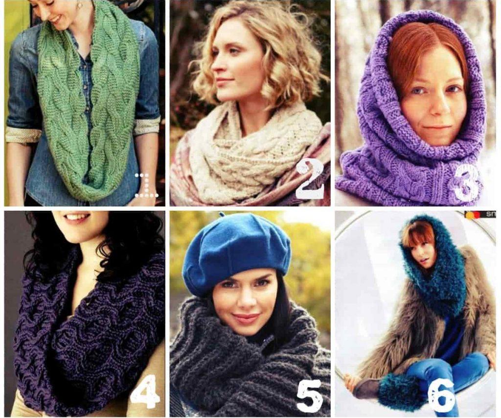 Модные женские снуды
