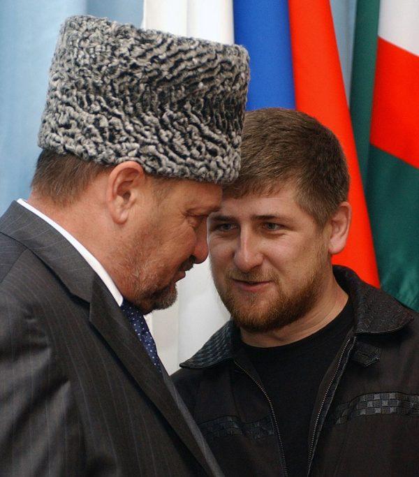Ахмат Кадыров с сыном Рамзаном