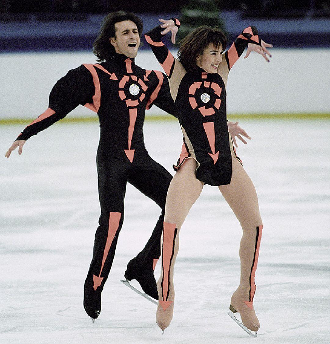 Ирина Лобачева и Илья Авербух на соревнованиях