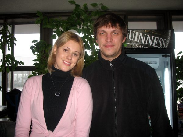 Дмитрий с женой Натальей