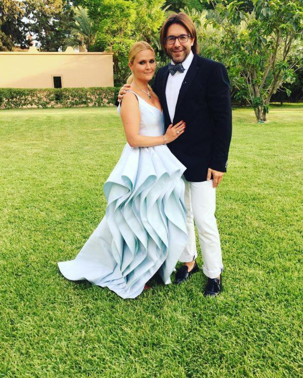 Наталья Шкулева и Андрей Малахов во время свадебного торжества